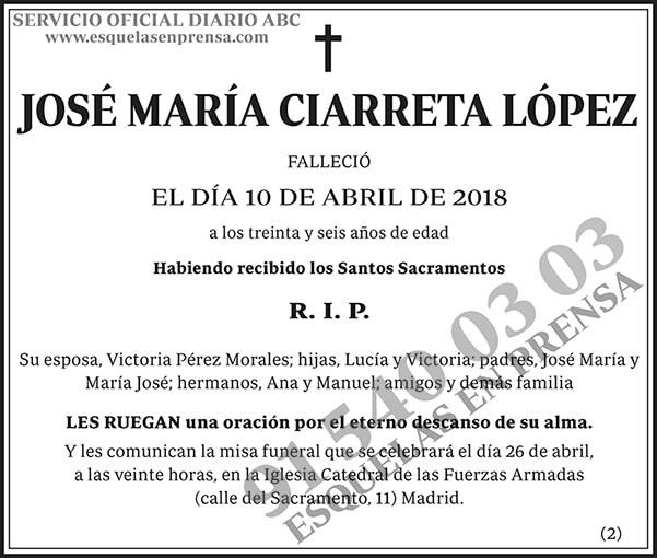 José María Ciarreta López